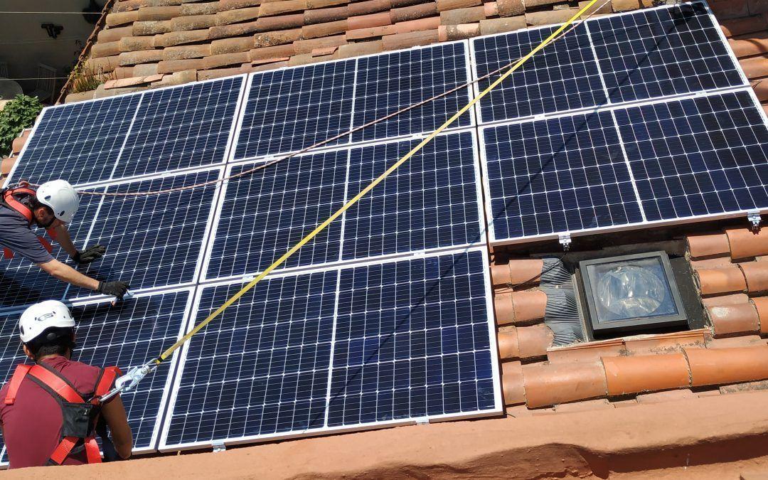 Primera instal·lació fotovoltaica de Connecta't al Sol!